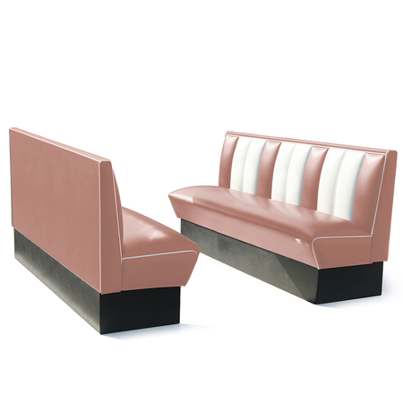 Bel Air Dinerbank Single Booth HW-180 Dusty Rose