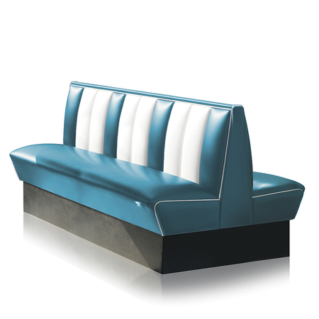 Bel Air Dinerbank Double Booth HW-150DB Blauw