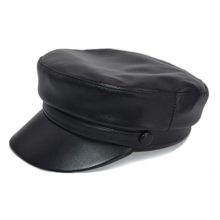 Monaco 1988 Sailor Cap Faux Leather Zwart One-Size
