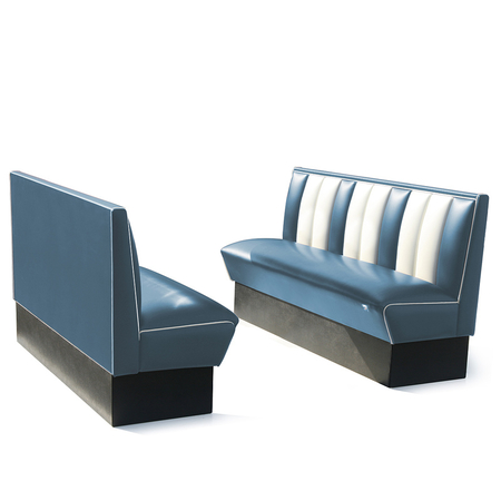 Bel Air Dinerbank Single Booth HW-150 Blauw
