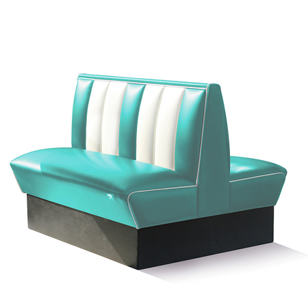 Bel Air Dinerbank Double Booth HW-120DB Turquoise