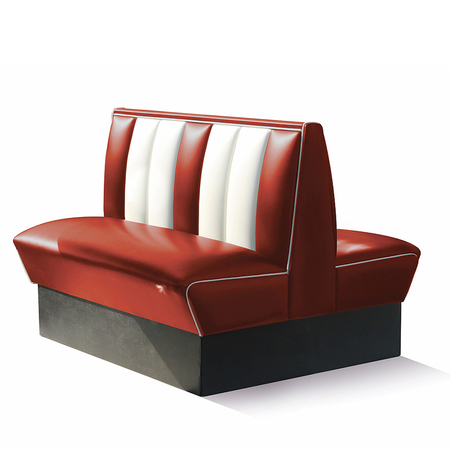 Bel Air Dinerbank Double Booth HW-120DB Ruby