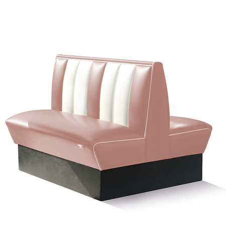 Bel Air Dinerbank Double Booth HW-120DB Dusty Rose