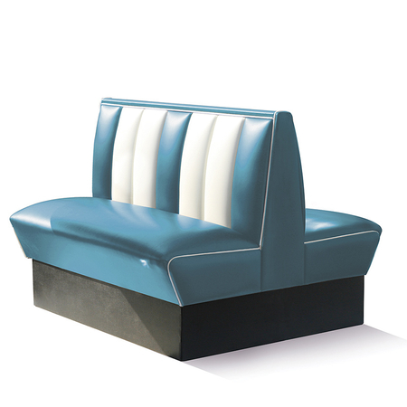 Bel Air Dinerbank Double Booth HW-120DB Blauw