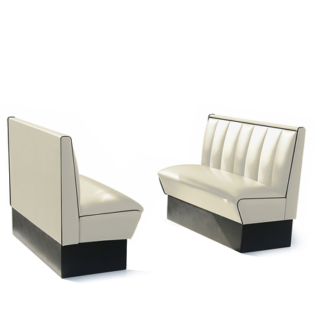 Bel Air Dinerbank Single Booth HW-120 Off White