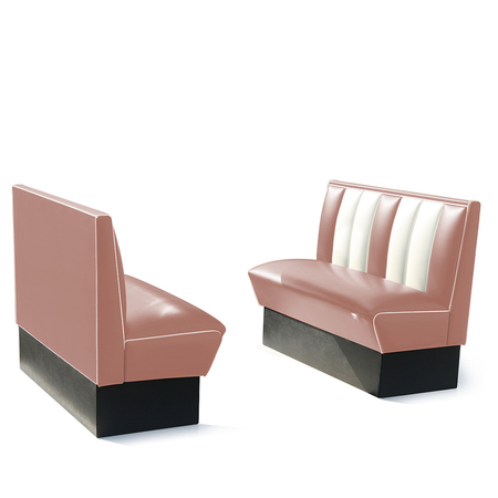 Bel Air Dinerbank Single Booth HW-120 Dusty Rose