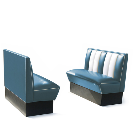 Bel Air Dinerbank Single Booth HW-120 Blauw
