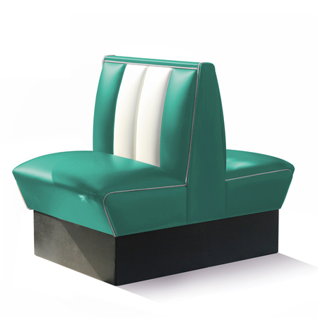 Bel Air Dinerbank Double Booth HW-70DB Turquoise