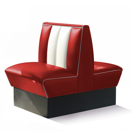 Bel Air Dinerbank Double Booth HW-70DB Rood
