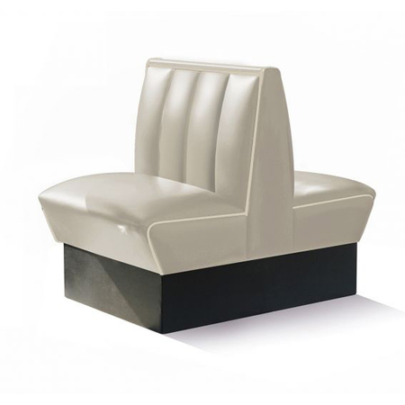 Bel Air Dinerbank Double Booth HW-70DB Off White