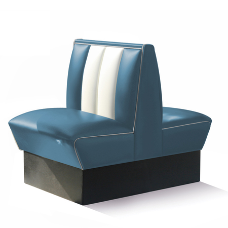 Bel Air Dinerbank Double Booth HW-70DB Blauw