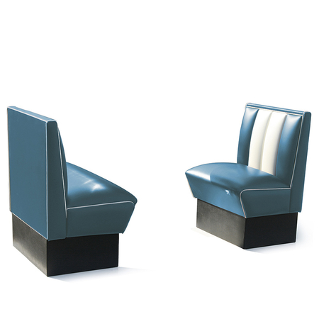 Bel Air Dinerbank Single Booth HW-70 Blauw