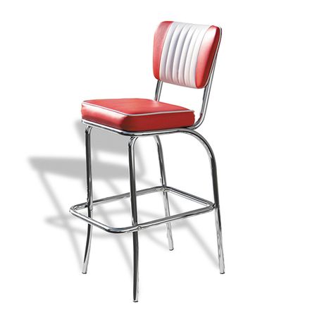 Bel Air Retro Barkruk BS-40 Rood