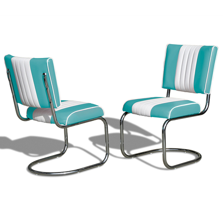 Bel Air Retro Eetkamerstoel CO-27 Turquoise
