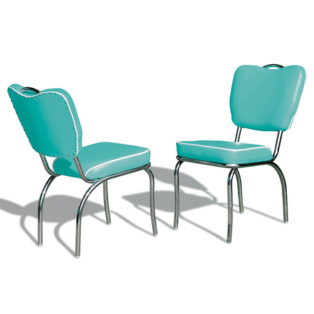 Bel Air Retro Eetkamerstoel CO-26 Turquoise