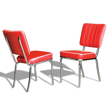 Bel Air Retro Eetkamerstoel CO-25 Rood