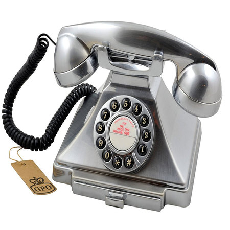 GPO Carrington Retro Telefoon Chroom