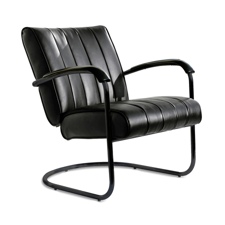 Bel Air Retro Loungestoel LC-01 Full Black