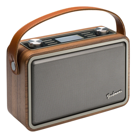 Goodmans Heritage Portable Wifi DAB+ Bluetooth Radio Wood