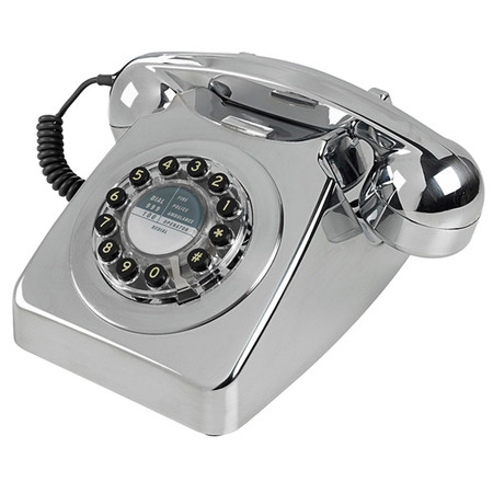 Wild & Wolf 746 Retro Telefoon Brushed Chrome