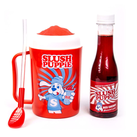 FIZZ Slush Puppy Mix & Drinkbeker Rood incl 500 ml Red Cherry siroop