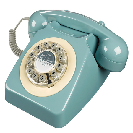 Wild & Wolf 746 Retro Telefoon French Blue