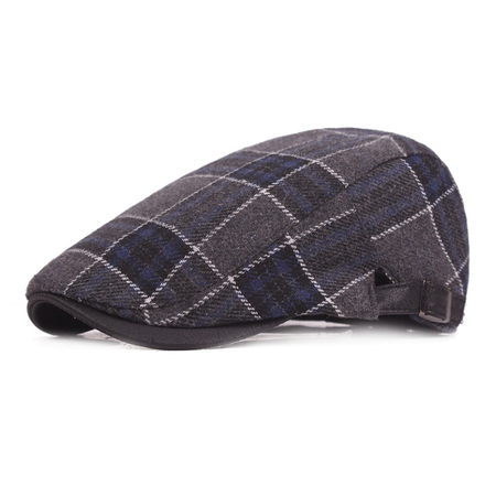 Glasgow 1924 Flat Cap Patchwork Grey One-Size