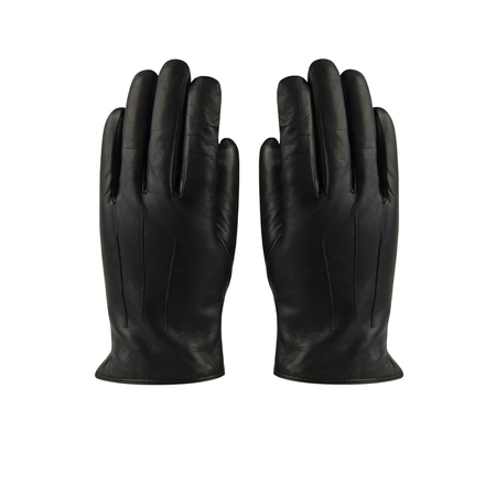 Hatland Retro Winterhandschoenen Tiesto Leather Zwart