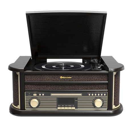Roadstar HIF-1898D+BT Retro Platenspeler DAB+ Bluetooth