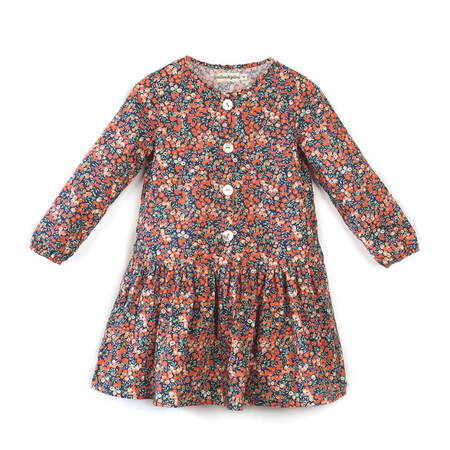 Milou & Pilou Whiltshire Jurk Liberty Print Red Floral