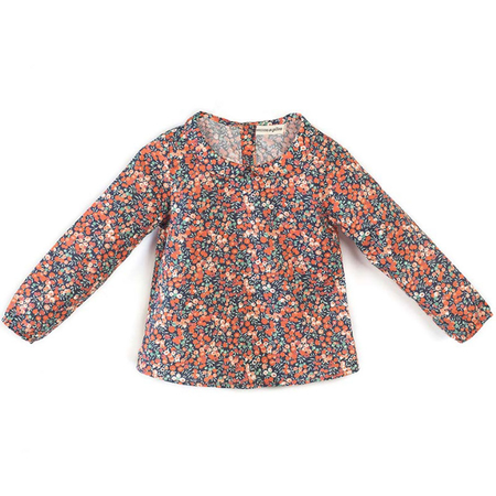 Milou & Pilou Whiltshire Blouse Liberty Print Red Floral