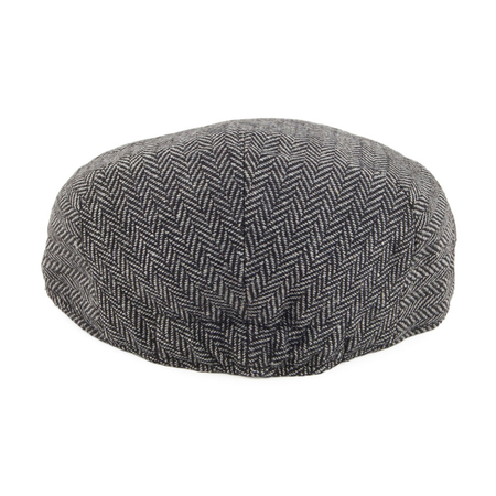 Jaxon & James Kids Flat Cap Herringbone Grijs