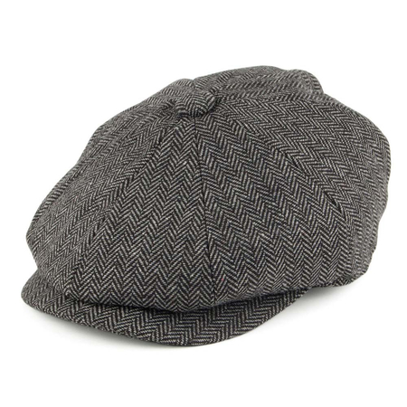 Jaxon & James Kids Herringbone Newsboy Cap Houtskool