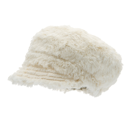 CTH Mini Regina Jr Newsgirl Cap Curls Off-White