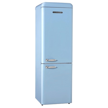 Schneider SCB 250 V2 SLB A++ Retro Koelkast Light Blue