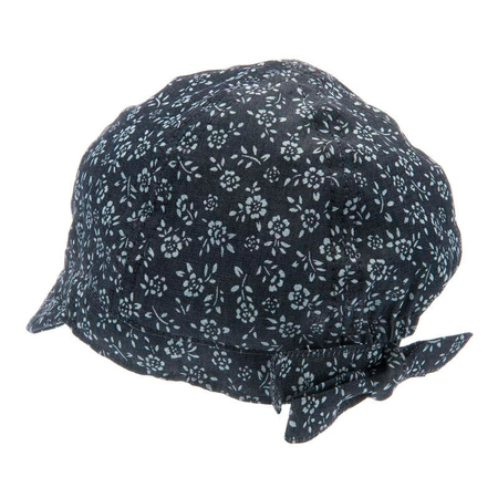 CTH Mini Bella Jr Newsgirl Cap Denim Flower Blue