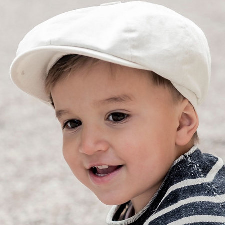 CTH Mini Gordon Jr Cotolino Newsboy Cap Beige