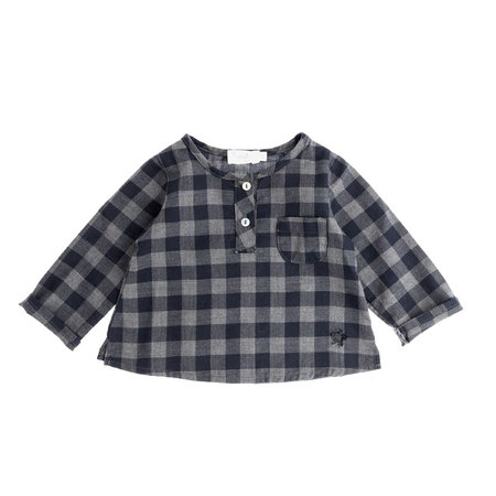 Tocoto Vintage Baby Plaid Shirt Navy