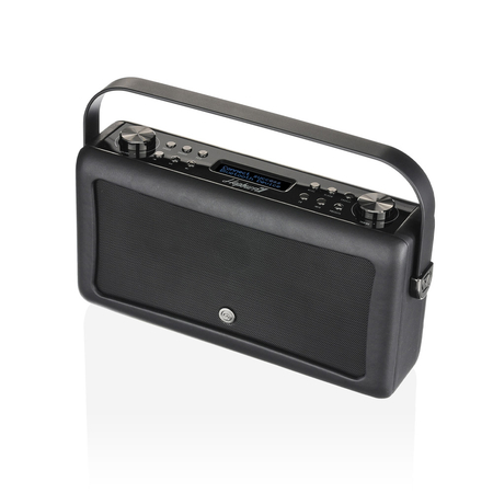 View Quest Hepburn MKII Retro Portable Radio Bluetooth DAB+ Zwart